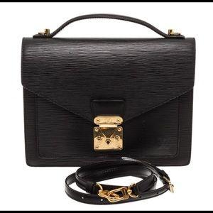 Louis Vuitton Black Epi Leather Monceau Crossbody